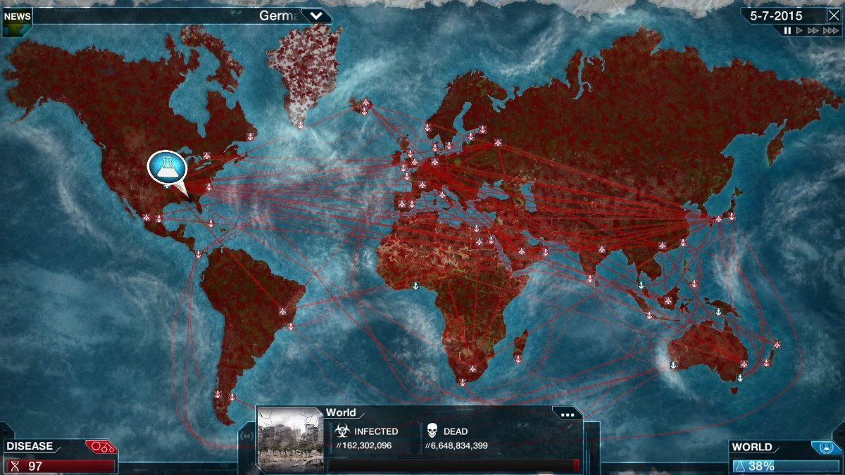 Mundo infectado Plague Inc